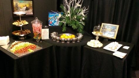The creative food display.